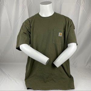 Carhartt Green & Gold Outdoor Short Sleeve T Shirt